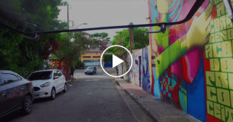 Street Art Road Trip in a  Kombi T1 Through the Streets of São Paulo